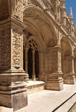 Detail of gallery in Jeronimos monastery Royalty Free Stock Images