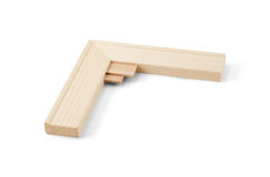 Detail of gallery wrap stretcher bar frames with low riser stock images