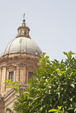 Detail of garden in Palermo Cathedral Stock Image