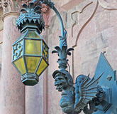 Lamp and gargoyle Royalty Free Stock Images