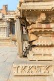 Detail on Garuda stone chariot, Hampi, Karnataka, India. Detail on Garuda stone chariot in Hampi, Karnataka, India royalty free stock images