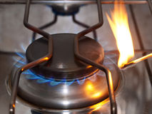 Detail of a gas cooker Stock Photo