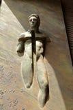 Detail of gate basilica Santa Maria degli Angeli e dei Martiri Royalty Free Stock Images