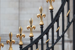 Detail of the gate of Buckingham Palace Royalty Free Stock Photo