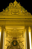 Detail of the gate at entrance to Hofburg palace at night, Vienna Royalty Free Stock Photos