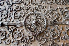 Detail of gate from Notre-Dame in Paris Stock Photo