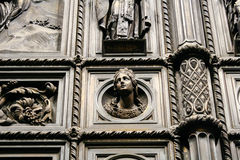 Detail of the gate of St. Isaac's Cathedral in St. Petersburg. Royalty Free Stock Photography