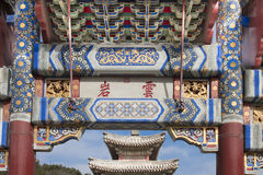 Detail Gate in Summer Palace Beijing stock photos