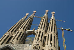 Detail of Gaudi's Cathedral Stock Photography