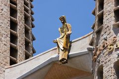 Detail of Gaudi's Sagrada Familia in Barcelona Royalty Free Stock Photography