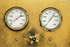 Detail of gauges Stock Images