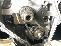 Detail gear engine automobile Royalty Free Stock Photos