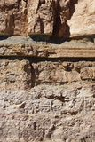 Detail, geological layers of sedimentary rock Royalty Free Stock Photography
