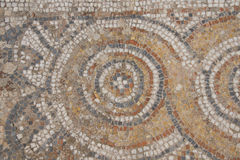 Detail of geometric mosaic walk Stock Photography
