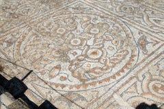 Detail of geometric mosaic walk Stock Image