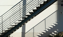 Detail of the geometric stairs Royalty Free Stock Photos