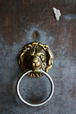Detail of German Lion Door Handle Royalty Free Stock Photos