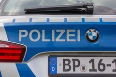 Detail of a German police car Stock Photos