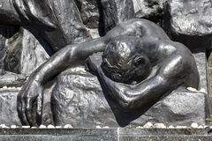 Detail of Ghetto Heroes Memorial, Warsaw stock photography
