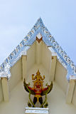 Detail Of giant statues on the roof Roof, Thailand. Royalty Free Stock Image