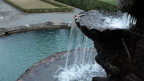 Detail Of Giants Fountain Villa Lante Bagnaia Italy stock video