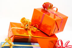 Detail of gift boxes Royalty Free Stock Photos