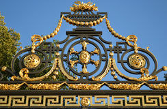 Detail of gilded lattice of Summer Garden Royalty Free Stock Images