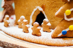 Detail of a gingerbread house Royalty Free Stock Image