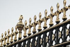 Detail of git Buckingham Palace Gate in London, United Kingdom. In colour Royalty Free Stock Images
