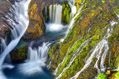 Detail of the Gjain valley, Iceland. Detail of the Gjain valley with many small waterfalls in Iceland Stock Images