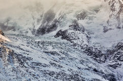 Detail of a Glacier Stock Image