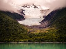 Detail of a glacier in the Galciers National Park in Argentina stock image