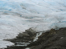Detail of glacier Ice in Argentina. Royalty Free Stock Photos