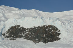 Detail. Glacier icefall, Royalty Free Stock Image