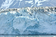 Detail of the glacier's edge. Royalty Free Stock Photo