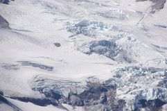 Detail, Glaciers on Mount Rainier Stock Photos
