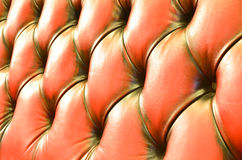 Detail of glamour brown sofa texture Royalty Free Stock Images