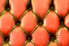 Detail of glamour brown sofa texture close-up Royalty Free Stock Photography