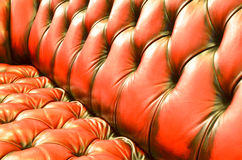Detail of glamour brown sofa texture Royalty Free Stock Photo