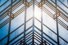 Detail of glass architectures in blue tone Royalty Free Stock Photography