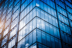 Detail of glass architectures in blue tone Stock Photos