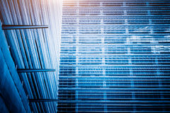 Detail of glass architectures in blue tone Royalty Free Stock Image