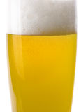 Detail from Glass of Beer Royalty Free Stock Photo