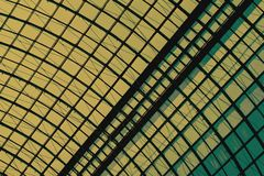 Detail of a glass dome with a metal frame close-up, armature. Graphic texture for a modern background royalty free stock photography