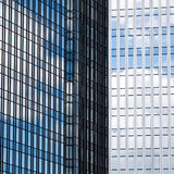 Detail of glass facades of skyscrapers Stock Photo