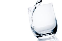 Detail of a glass with pure water with bubbles and space for text Stock Photography