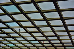 Detail of a glass roof Stock Photo