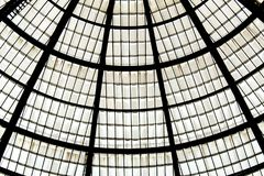 Detail of the glass roof of vittorio emanuele gallery. In Milan Stock Photography