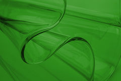 Detail glass. A detail of a glass vase with a green background Royalty Free Stock Image