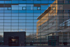 Detail of glass windows, the Administrative Centre in the southern city gent Royalty Free Stock Photo